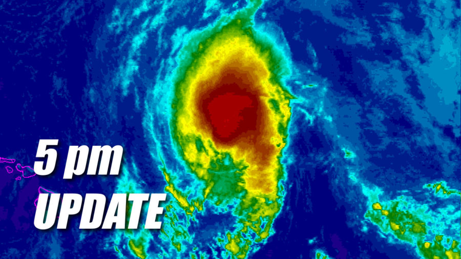 Tropical Storm Olivia Update for 5pm Monday