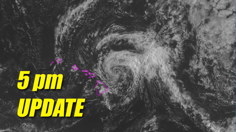 Tropical Storm Olivia Update for 5pm Tuesday
