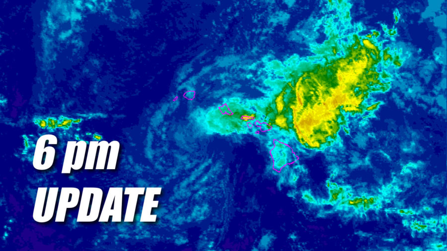 Weakening Tropical Storm Olivia Moving Away From Hawaii