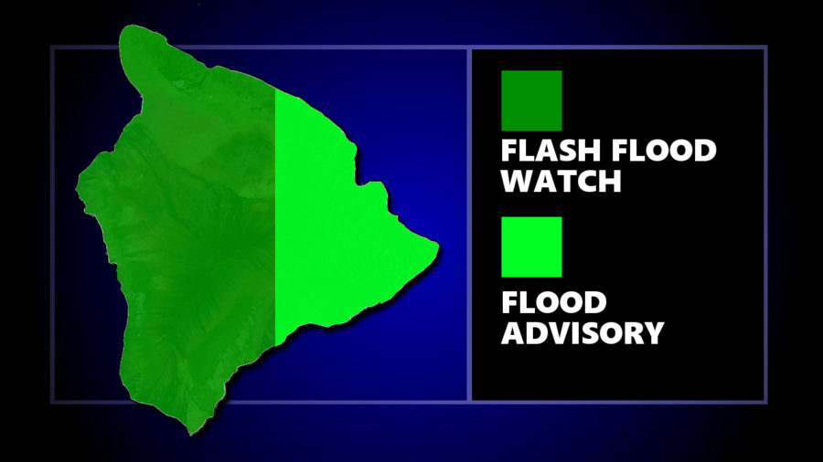 Flood Advisory Issued For East Hawaii