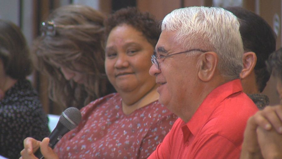 VIDEO: Robert Lindsey Gifts Sonny Kaniho Book To OHA