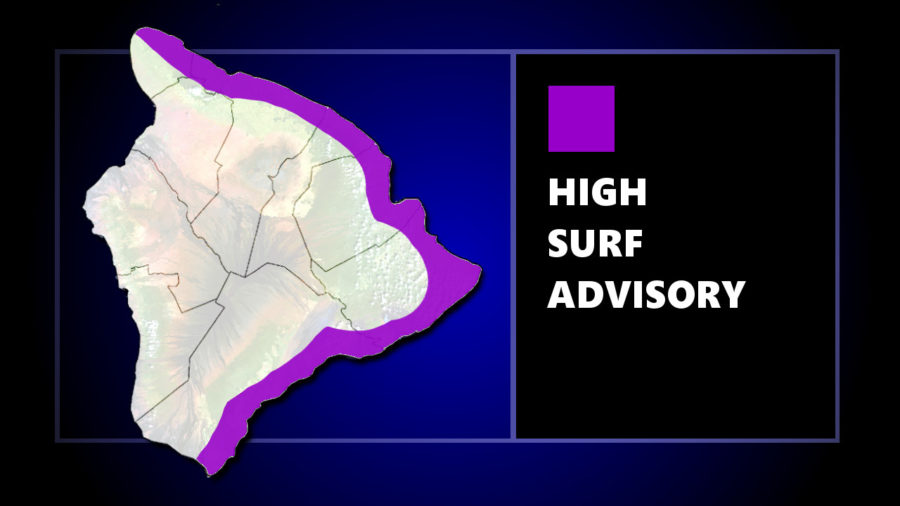 High Surf Advisory Continues For Hawaii Island