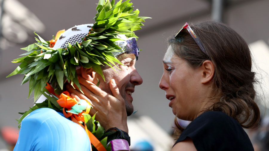 VIDEO: Ironman Champ Breaks Kona Course Record, Proposes At Finish