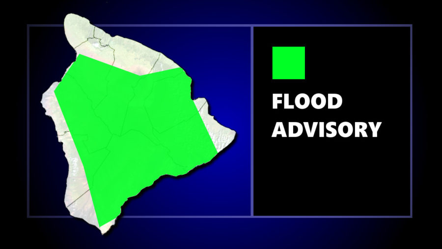 Flood Advisory For Volcano, Puna and Ka'u