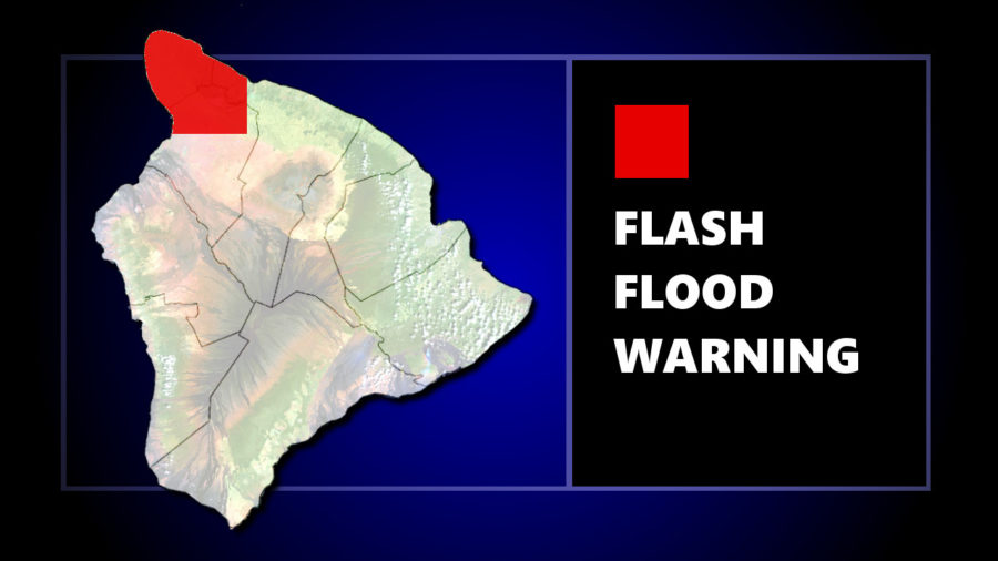 Flash Flood Warning For Kohala Area Of Hawaii