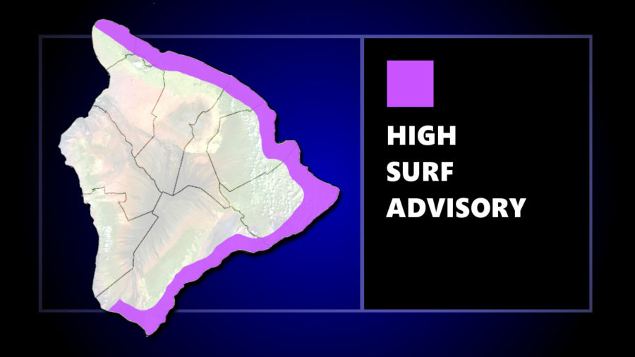 High Surf Advisory Continues For East Hawaii Shores