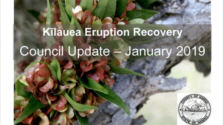 """VIDEO: $155 Million Kilauea Eruption Recovery """"Ask"""" Presented"""