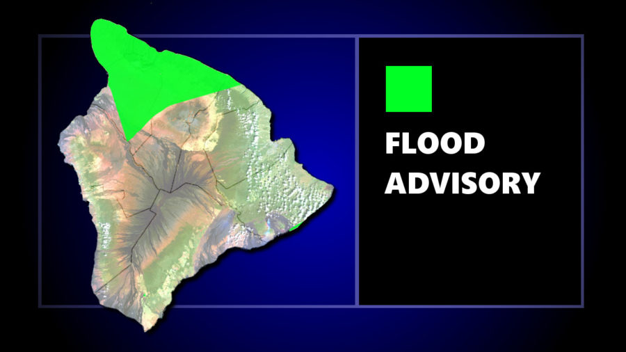Flood Advisory Posted For North Hawaii