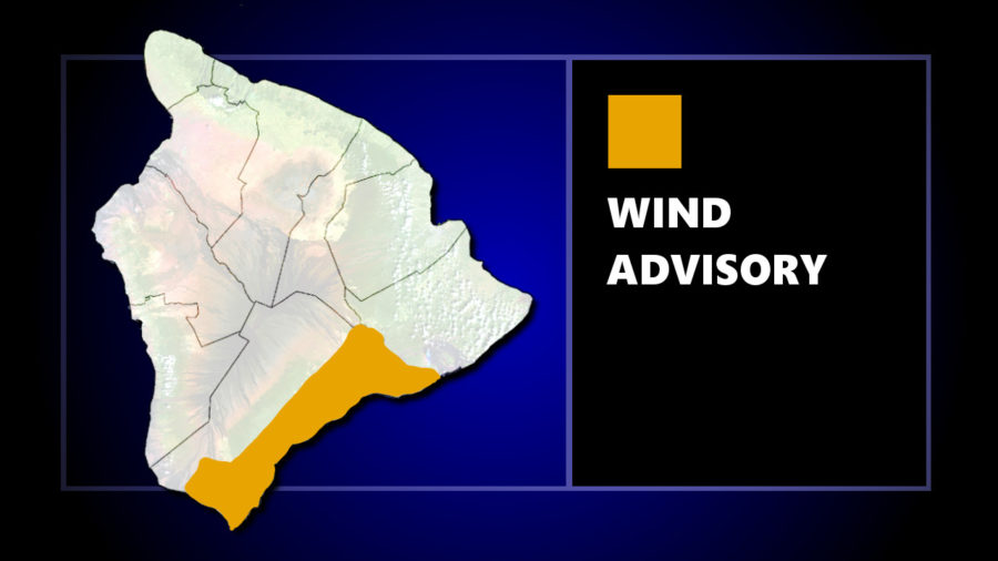 Wind Advisory For Parts Of Puna, Ka'u