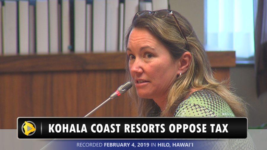 VIDEO: Kohala Coast Resorts Oppose Additional GE Tax