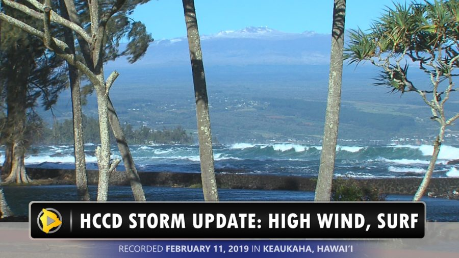 VIDEO: Storm Update – High Surf, Wind In Keaukaha