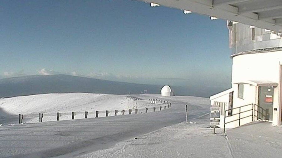 Snow On Hawaii Summits As Winter Storm Warning Lifted