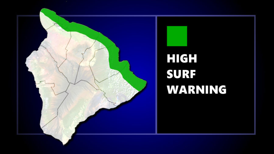 High Surf Warning Continues Sunday