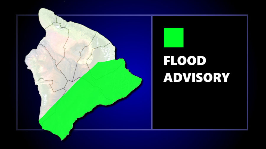 Flood Advisory For Ka'u, Puna, and Hilo Districts