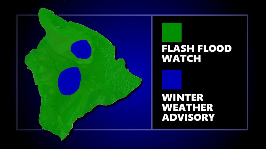 Flash Flood Watch, Winter Weather Advisory For Hawaii