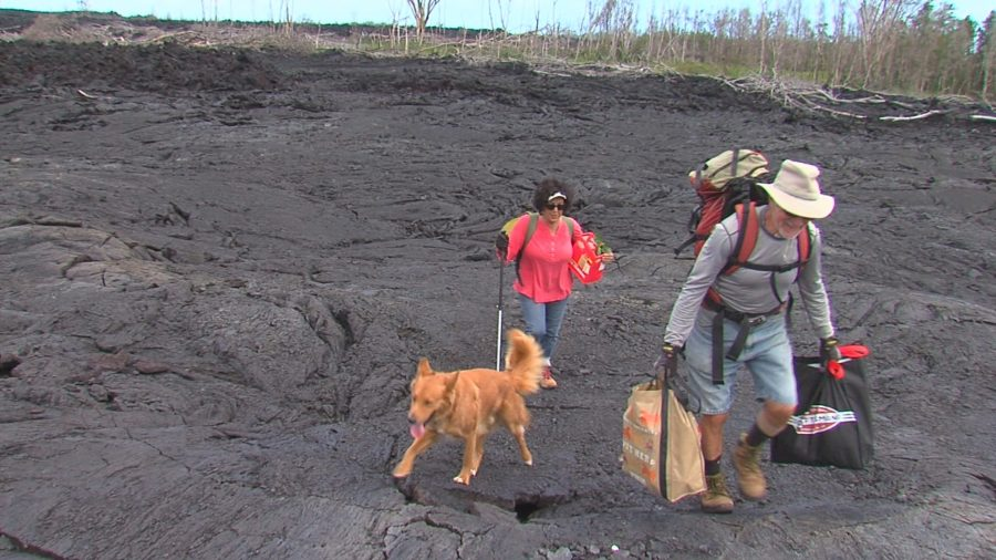 VIDEO: Home Is A Hike Over Lava For Puna Couple