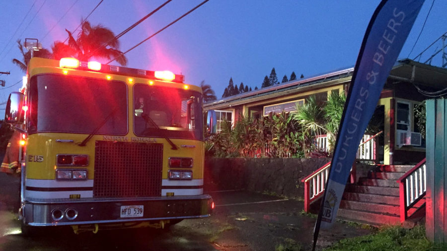 Structure Fire Burns Kohala Village HUB