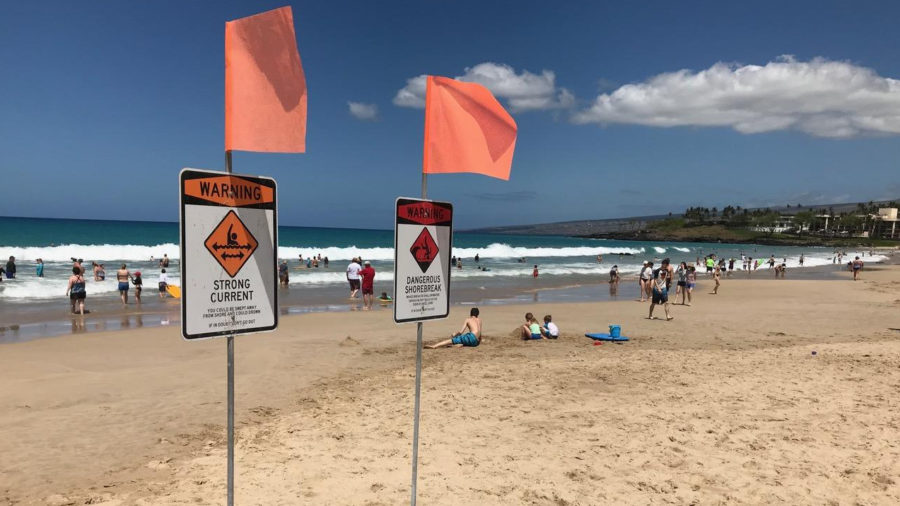 High Surf Warning, Advisory Dropped For Hawaii Island