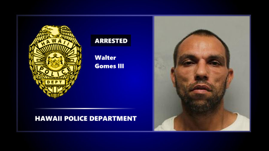 Manhunt Ends With Arrest Of Walter Gomes In South Kona