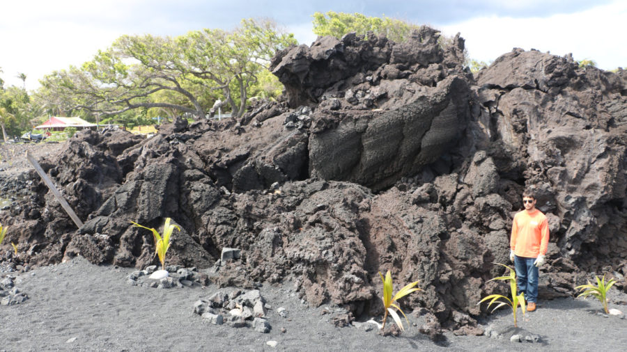 "Scientists Call Pohoiki Flow ""Toothpaste Lava"""