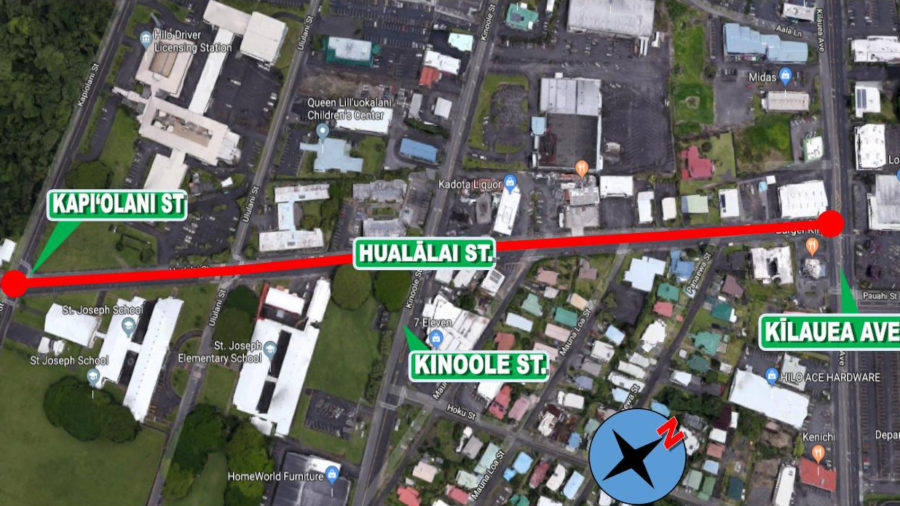 Work On Hualalai Street Begins Sunday With Traffic Light Repair
