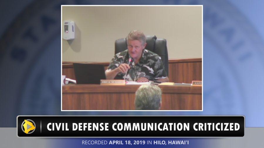 VIDEO: Council Criticizes Civil Defense Communication