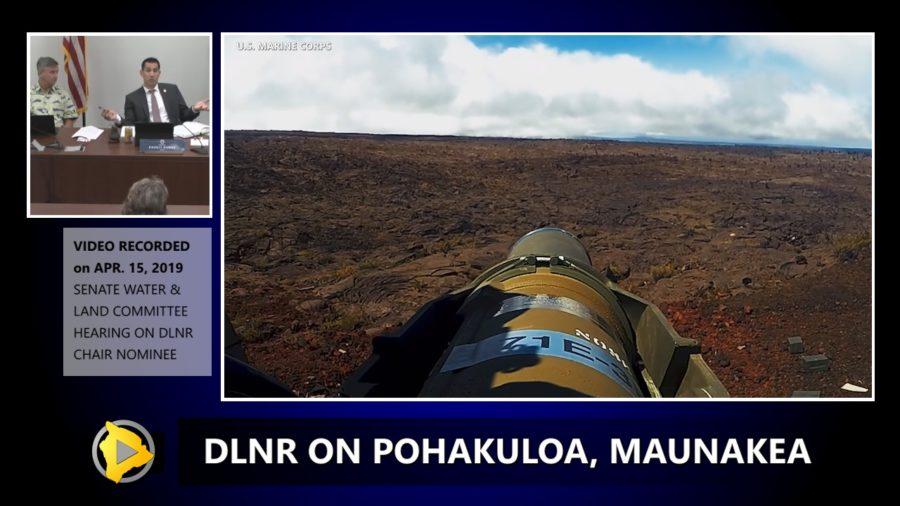 VIDEO: DLNR Chair Gives Pohakuloa, Mauna Kea, TMT Update
