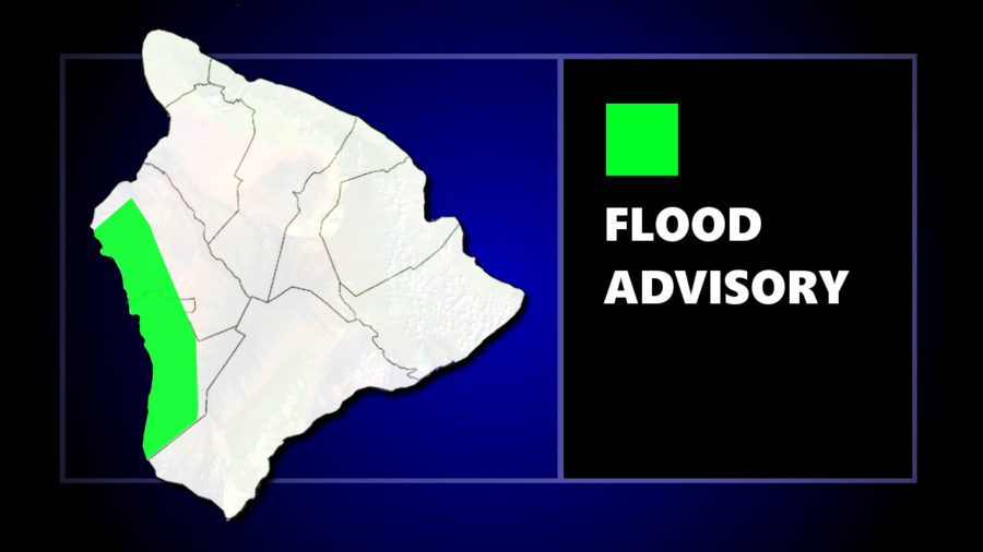 Flood Advisory Issued For Kona