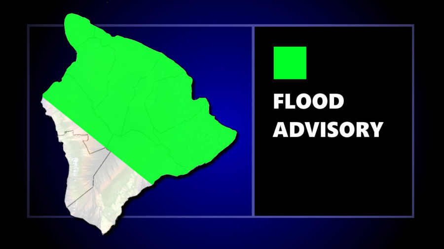 Flood Advisory Issued For North Half Of Hawaii Island