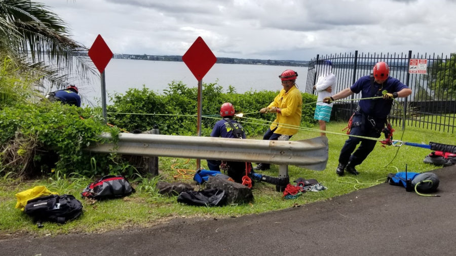 Dog Rescued From Honolii Cliff Perch