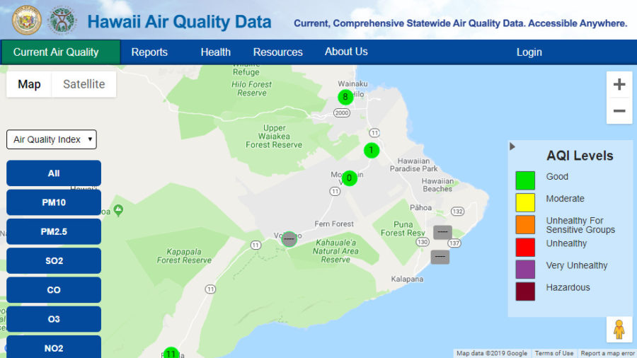 Health Officials Explain Missing Puna, Volcano Air Quality Data
