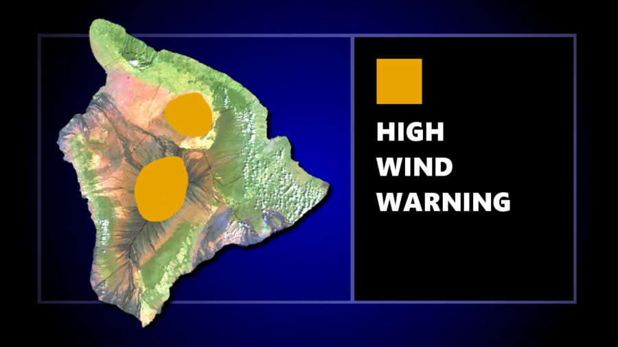 High Wind Warning Posted For Hawaii Summits