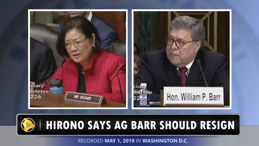 VIDEO: Hawaii Senator Hirono Blasts AG Barr During Mueller Report Hearing