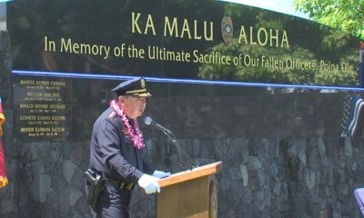 VIDEO: Police Week Ceremony Held In Hilo, Officer Kaliloa Added To Memorial Wall