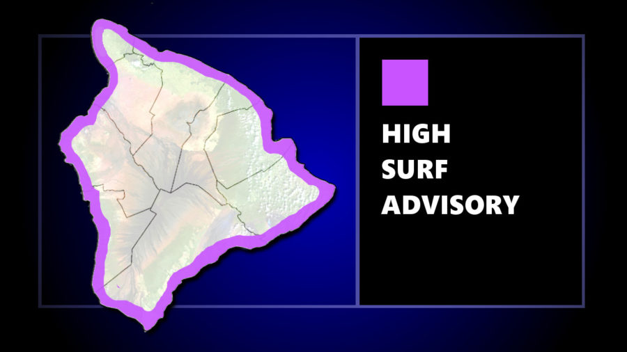 High Surf Advisory Issued For All Hawaii Island Shores