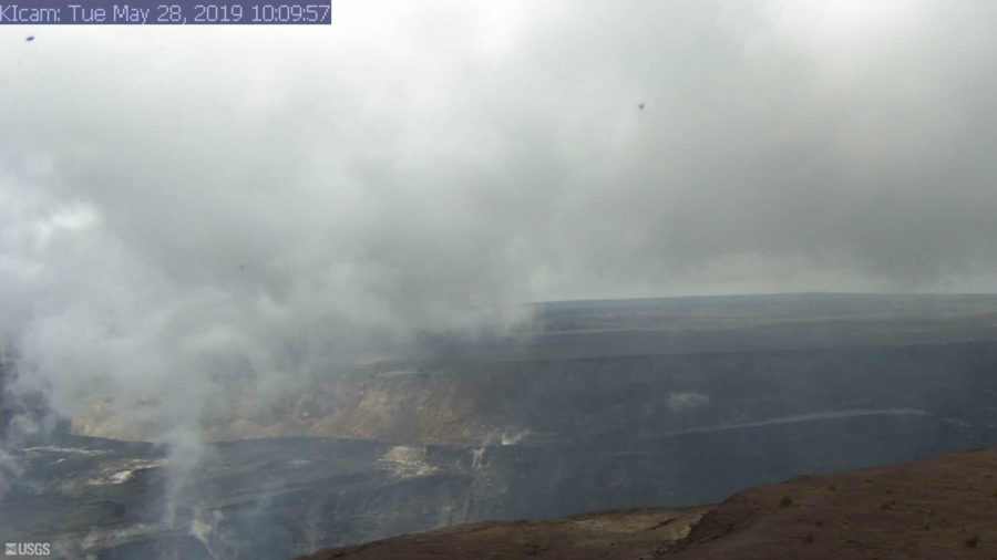 Kilauea East Rift Refill Motion Slows, Summit Deformation Continues