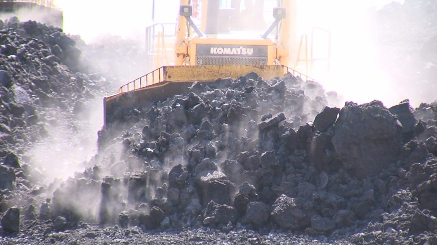 VIDEO: Lava Clearing On Highway 132 Begins