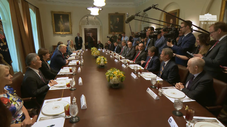 VIDEO: Governor Ige Sits Down With President Trump At White House Lunch