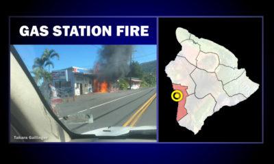 South Kona Gas Station Fire Sends Man To Hospital