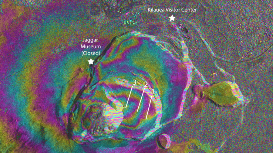 VOLCANO WATCH: Interferogram Tracks Inflation At Kilauea Summit