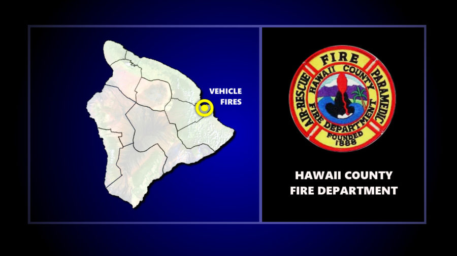 Multiple Vehicles Burn At Hilo Tow Yard