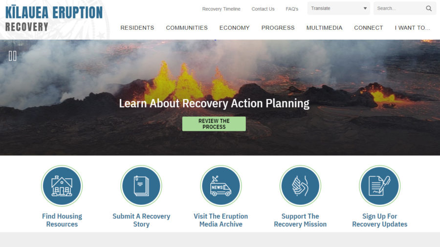 Kīlauea Eruption Recovery Website Launched