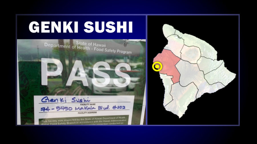 Genki Sushi In Kona Reopens After Inspectors Post Green Placard