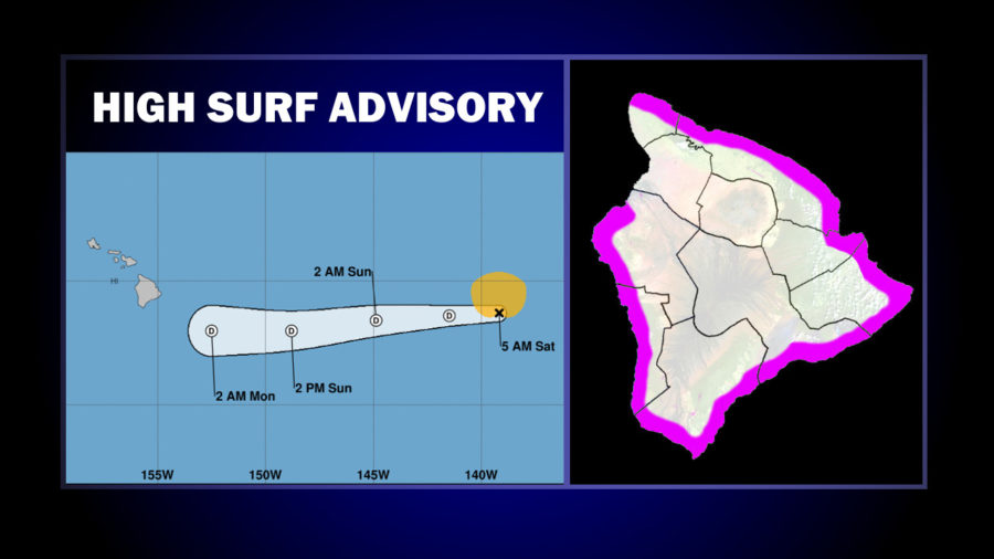 High Surf Advisory Issued As Barbara Degenerates