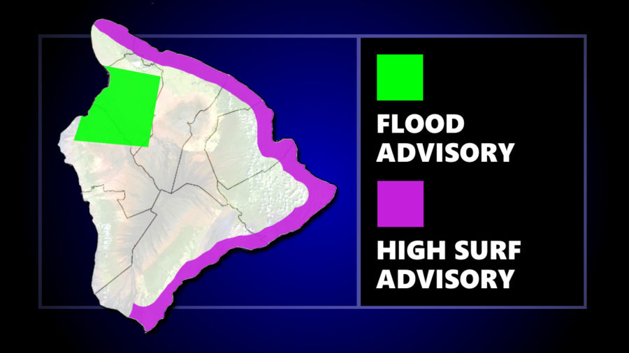 Flood Advisory For West Hawaiʻi, Brown Water Advisory For East Hawaiʻi