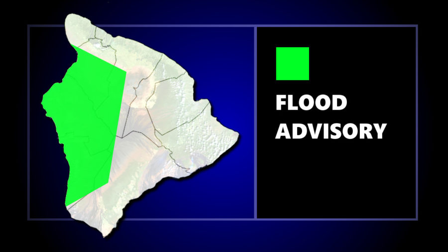 Flood Advisory Issued For Large Area Of West Hawaii
