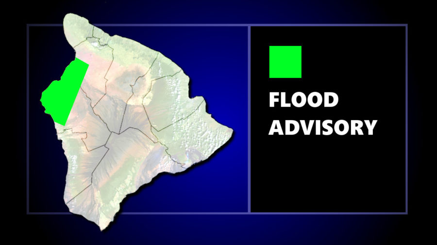 Flood Advisory Issued For Kona, South Kohala
