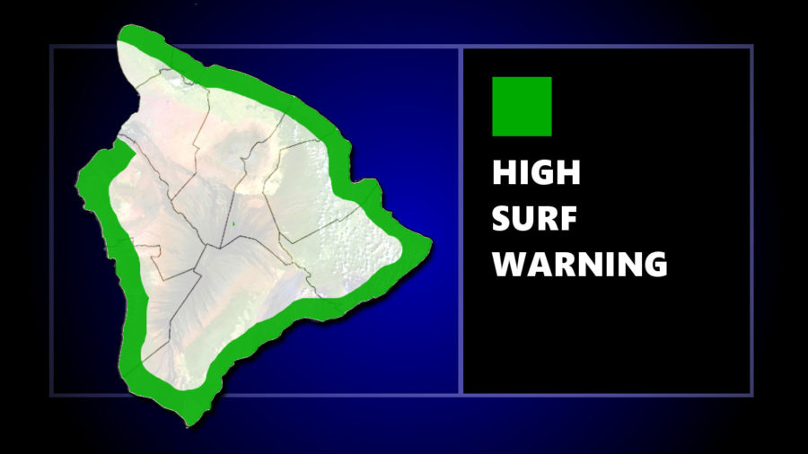 High Surf Warning Issued For South-Facing Shores