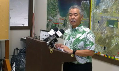 Governor David Ige Holds Press Conference About Mauna Kea From Hilo