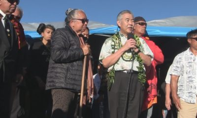 Governor David Ige Visits Mauna Kea Encampment